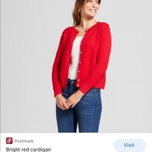 Target Bright Red Cardigan